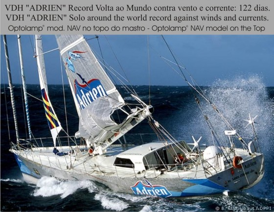 "VDH ""Adrien"" Solo around the World record against winds and courrent"